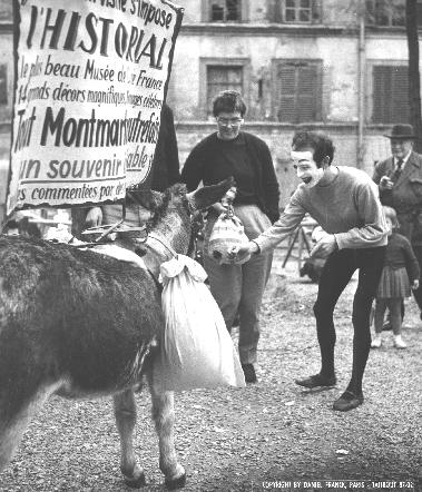 With the Donkey of Montmartre 1961: Paris, France
